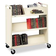 "Bretford V336 Double-sided Book Truck - 6 Shelf - 4 X 4"" Caster - Steel - 37"" X 18"" X 42"" - Gray"