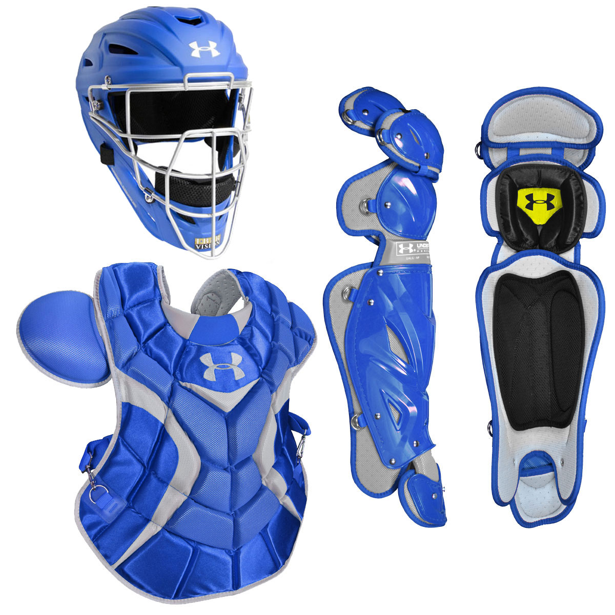 Under Armour Professional Adult Baseball Catcher's Package w/Matte Helmet