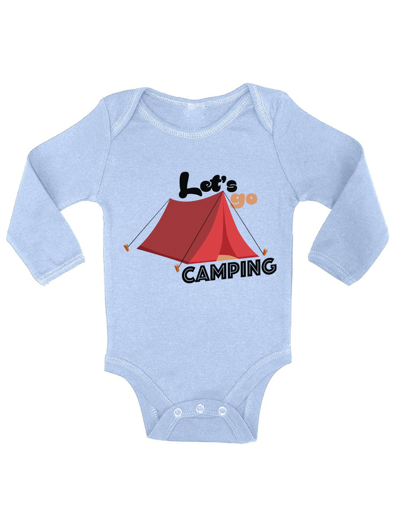 Awkward Styles Awkward Styles Let S Go Camping Baby Bodysuit