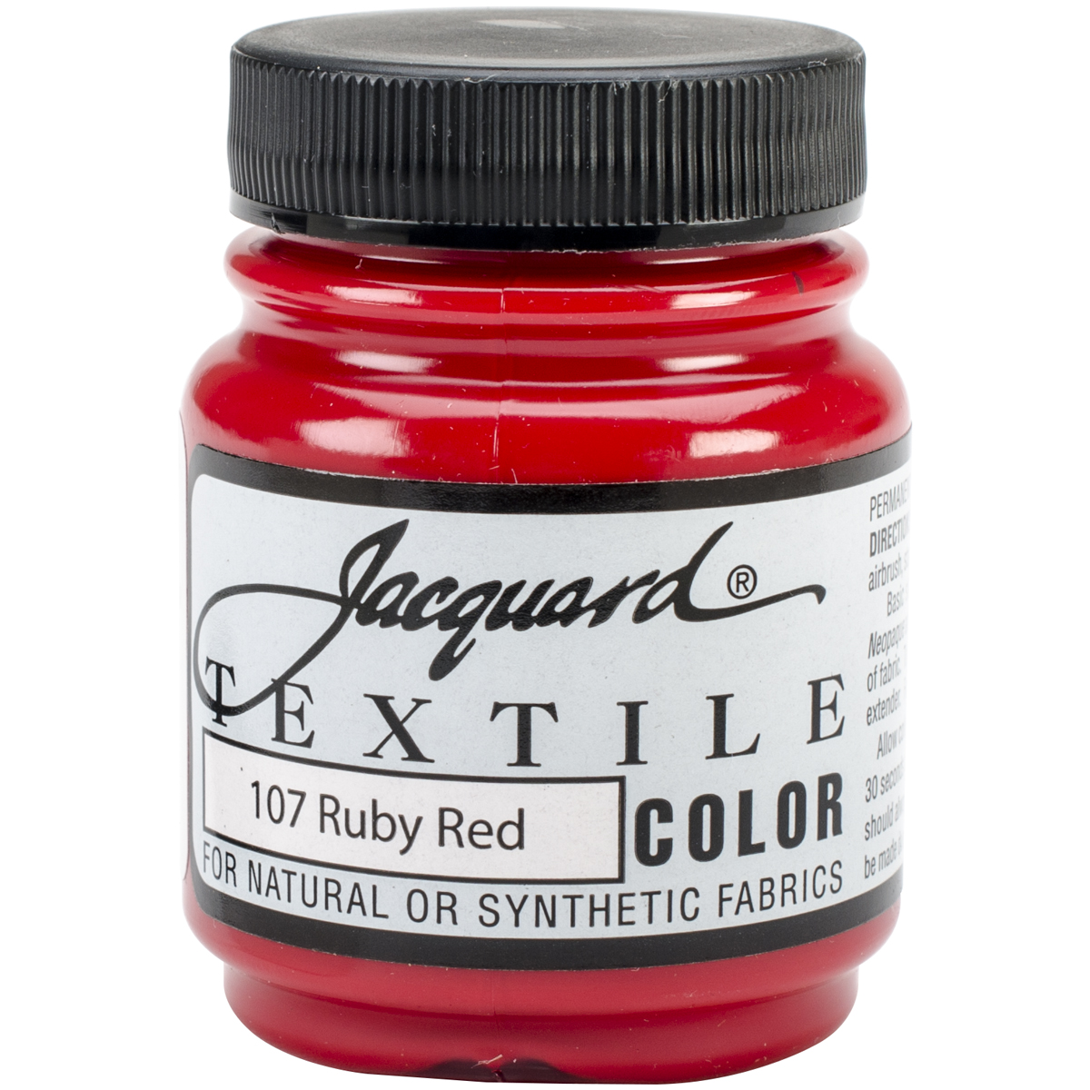Jacquard Textile Color Fabric Paint 2.25oz-Ruby Red