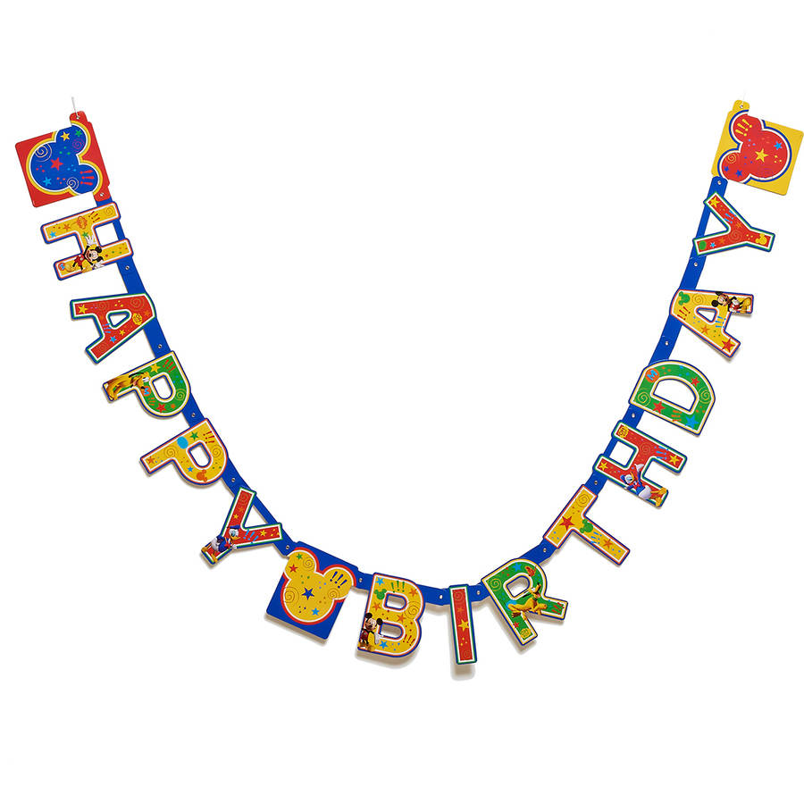 Mickey Mouse Clubhouse Birthday Party Banner, Party Supplies