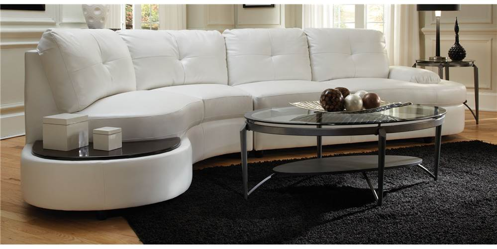 contemporary sectional sofa with built in table walmart com rh walmart com Sofa Table Sectional with Wedge Sectional Sofa Set