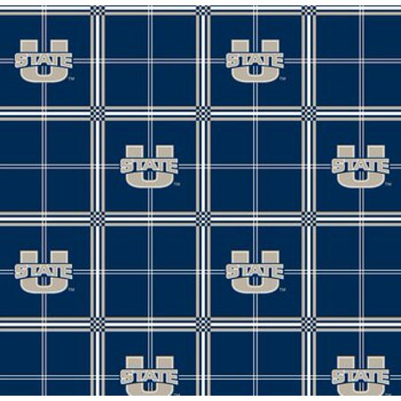 NCAA Utah State Aggies Cotton Fabric, per -