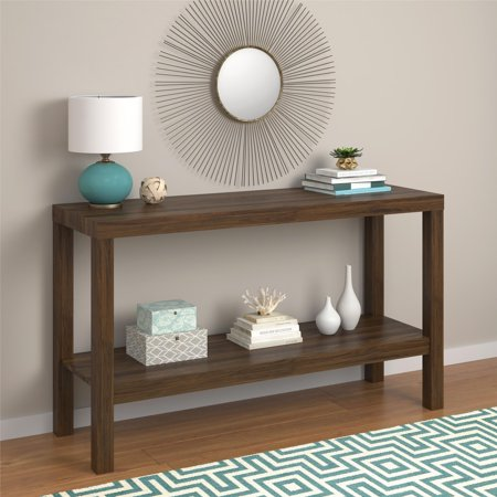 Mainstays Parsons Console Table, Canyon Walnut