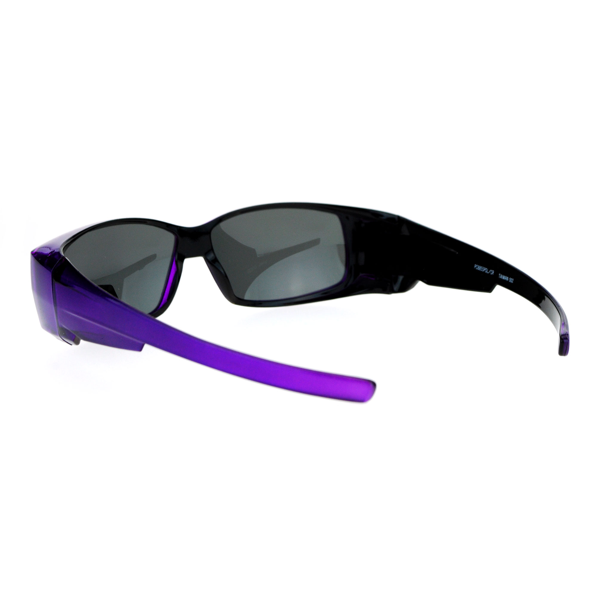 d109e7f1daf1 SA106 - SA106 Unisex Polarized Rectangular 55mm Over the Glasses Fit Over  Sunglasses Red - Walmart.com