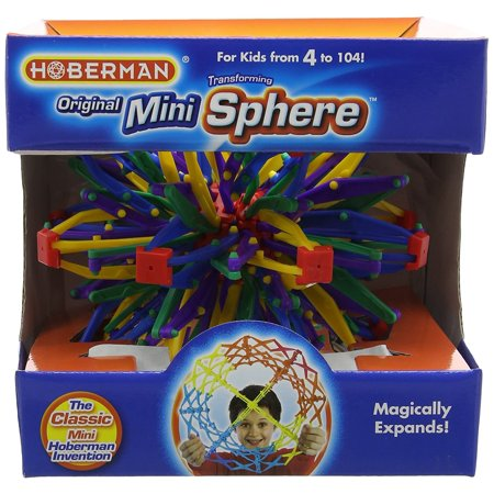 Expanding Mini Sphere Toy  Ball Discontinued Brain Intelligence Moon Boys Girls Black Glow Orange Sphere Bounceback Expanding Test Light Challenging    By Hoberman
