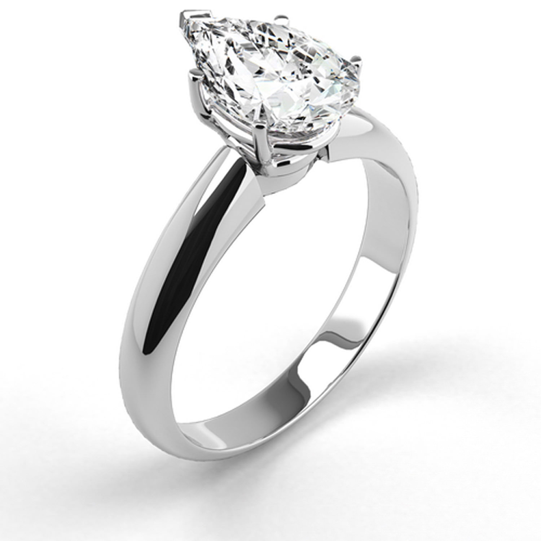Platinum Engagement Ring Natural Diamond 1.07 Carat Weight Pear Shaped G SI2