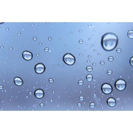 LAMINATED POSTER Moody Rain Drop Blue Droplet Rain Raindrops Storm Poster Print 24 x 36