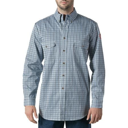 Big men 39 s flame resistant plaid work shirt hrc level 2 for Flame resistant work shirts
