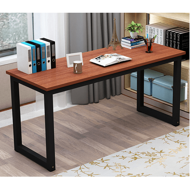 Tribesigns Modern Computer Desk 63 Inches Large Office Desk Computer Table Study Writing Desk For Home Office Solid Metal Frame Walmart Com Walmart Com