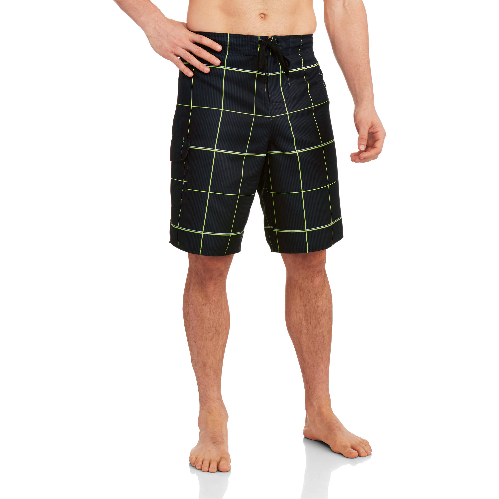 Op Men's Plaid E-Board Shorts