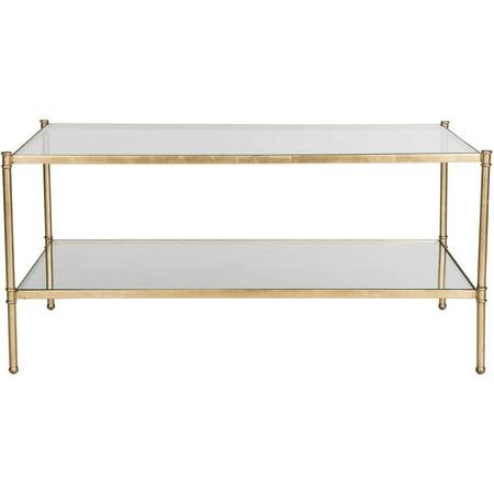 Gold Antique Coffee Table - Safavieh Aslan 42