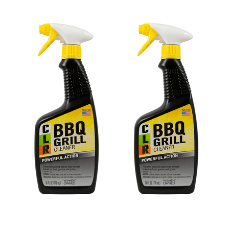 (2 pack) CLR BBQ Grill Cleaner, Powerful Foaming Trigger, 26 Oz Spray Bottle - Electric Grill Cleaner