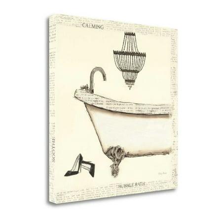 Tangletown Fine Art 'Emily's Boudoir I Bath' Graphic Art Print on Wrapped Canvas