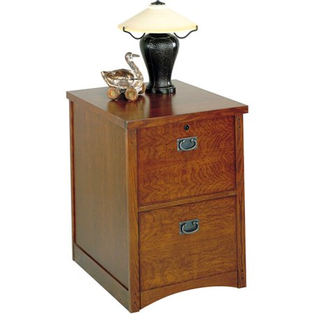 Artisan 2 Drawer File Cabinet Classic Brown Walmart Com