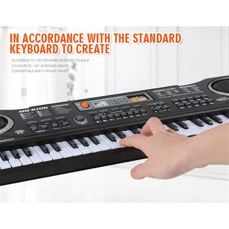 Piano Gift - 54*17*5.5cm 61 Keys Kids Children's Digital Music Electronic Keyboard Key Board with Microphone Toy Gift Electric Piano Organ