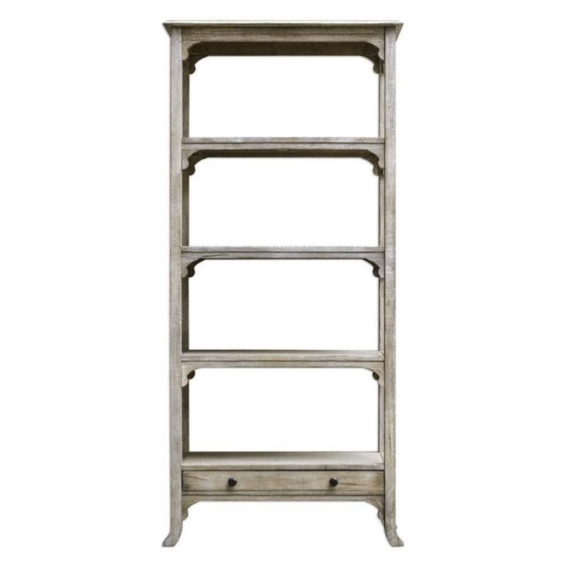 Uttermost Bridgely Aged White Etagere by Uttermost