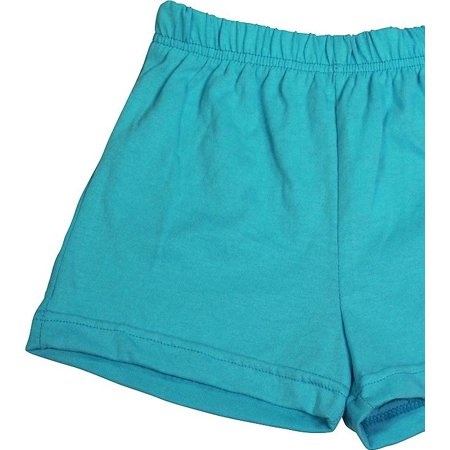 Toddler Little Girls Knit Athletic Gym Excersize Shorts - 13 Colors - Sizes 2T -, 38985 Aqua / 4T - Superman Costume Toddler 2t 4t