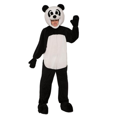 Adult Open Face Panda Halloween Costume - Adult Panda Costume