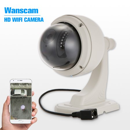 "Wanscam 720P WIFI Camera HD 1.0MP 1/4"" CMOS Wireless Medium Speed Dome Camera PTZ IP Camera 22pcs IR Lamps IR-CUT Night Vision Outdoor Waterproo"