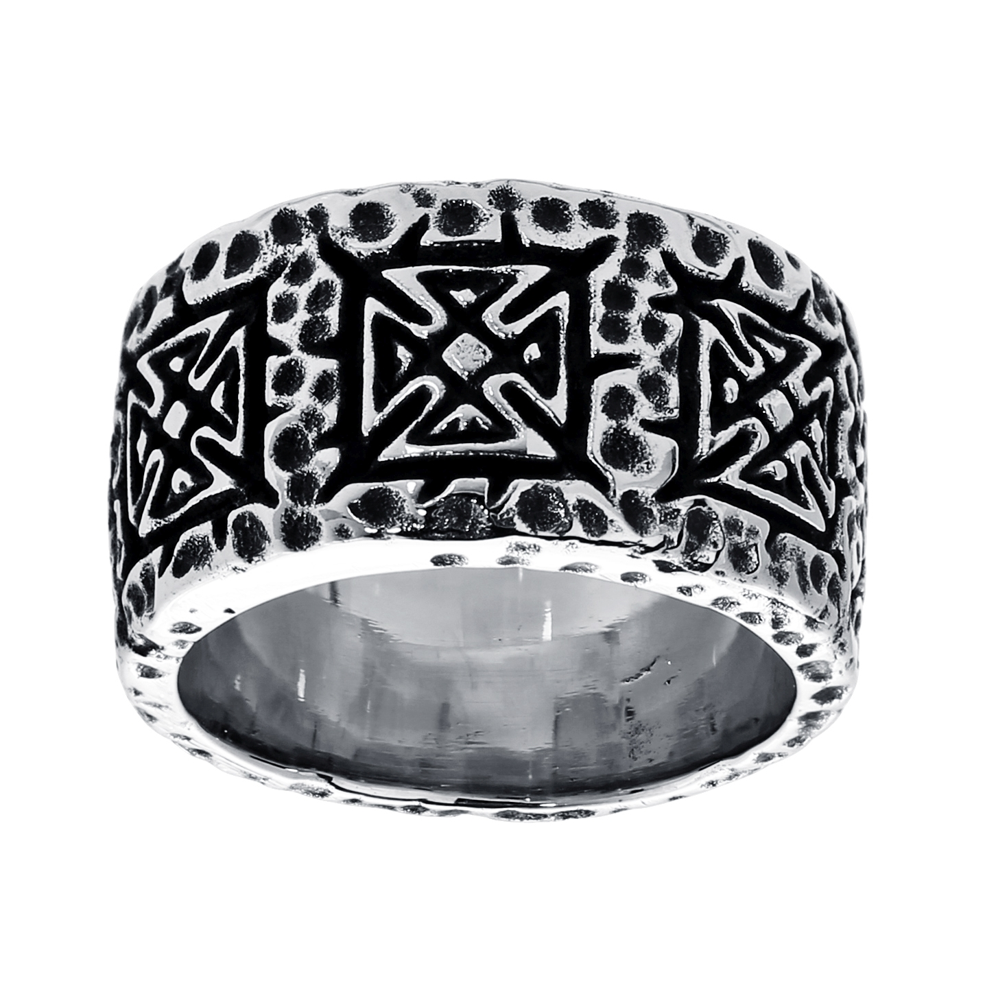 Stainless Steel Ring with Black Plating