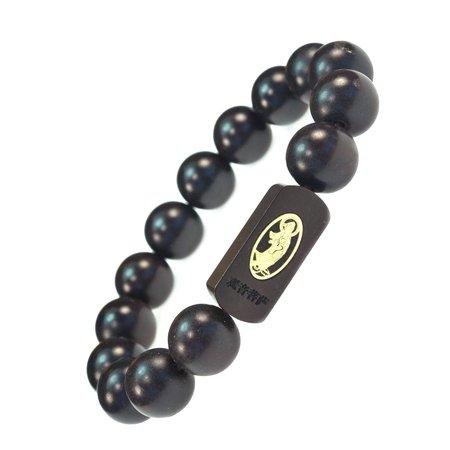 High Quality Tibetan Guan Yin Prayer Mala Dark Wood Bracelet Good for Protection - 91094 ()