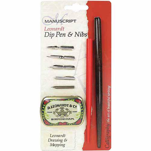 Manuscript Pen Manuscript Leonardt Dip Pen & Nibs Set, Drawing & Mapping