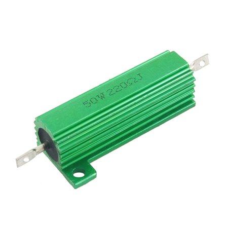 Unique Bargains 220 Ohm 50W Screw Tap Mounted Aluminum Case Wire Wound Resistor