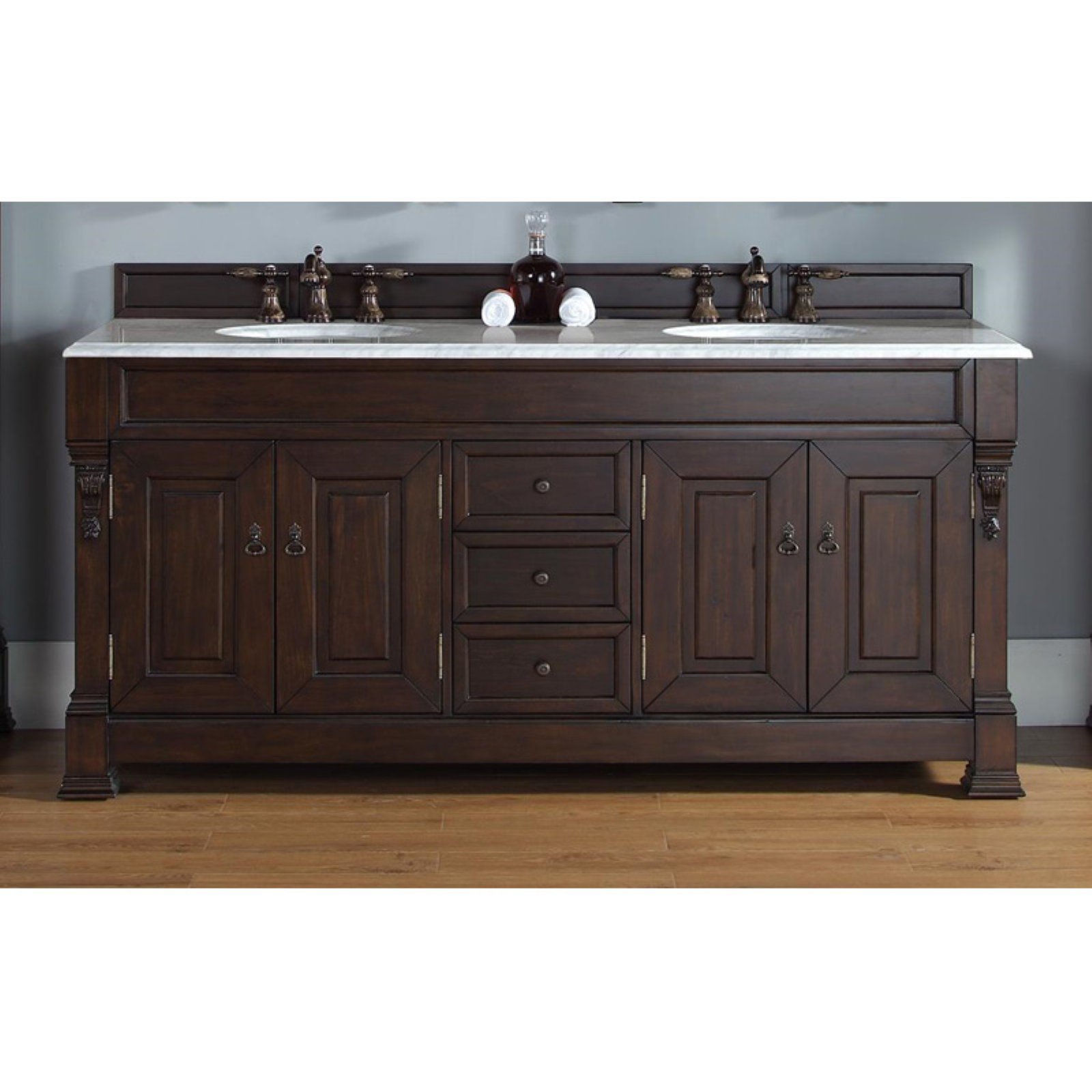 James Martin Brookfield 72 in. Double Bathroom Vanity