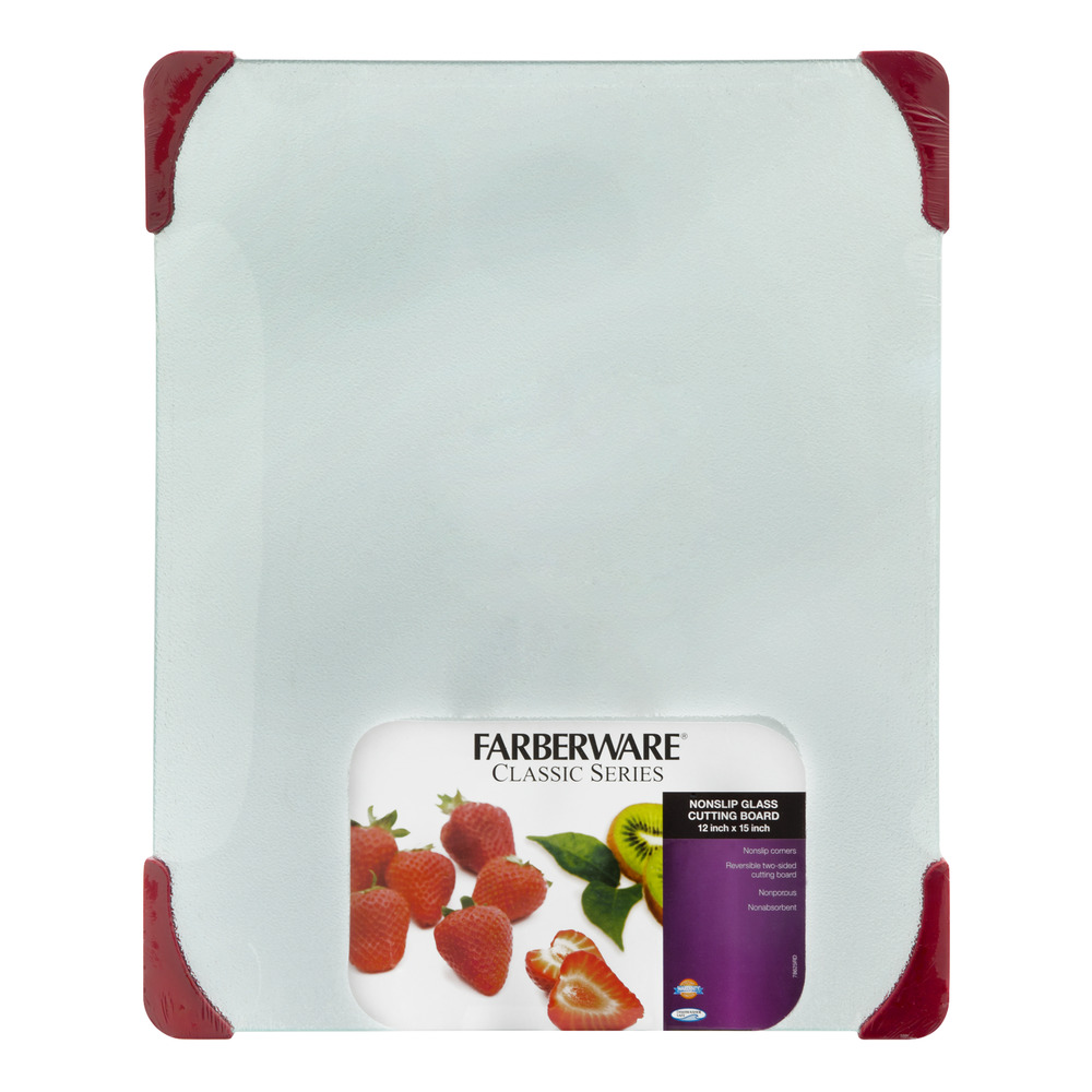 "Farberware Classic Series 12 "" x 15 "" Nonslip Glass Cutting Board"