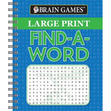 Brain Games Large Print Find a - Find A Word Halloween