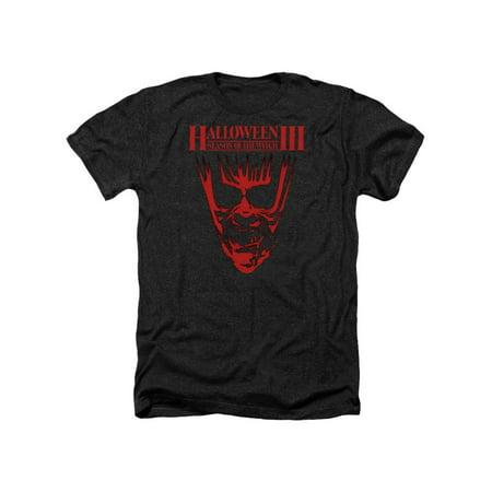 Halloween III Horror Slasher Movie Series Title Adult Heather T-Shirt Tee