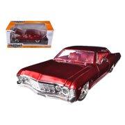 1967 Chevrolet Impala SS Red 1/24 Diecast Car Model by Jada