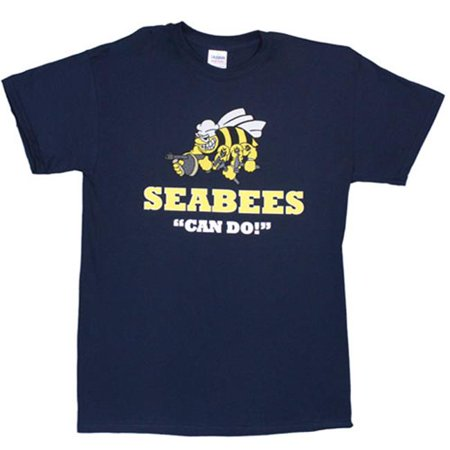 Seabees Can Do Imprint T-Shirt - Navy, XXL