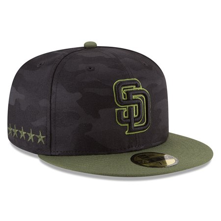 wholesale dealer 05212 5cf29 San Diego Padres New Era 2018 Memorial Day On-Field 59FIFTY Fitted Hat -  Black - Walmart.com