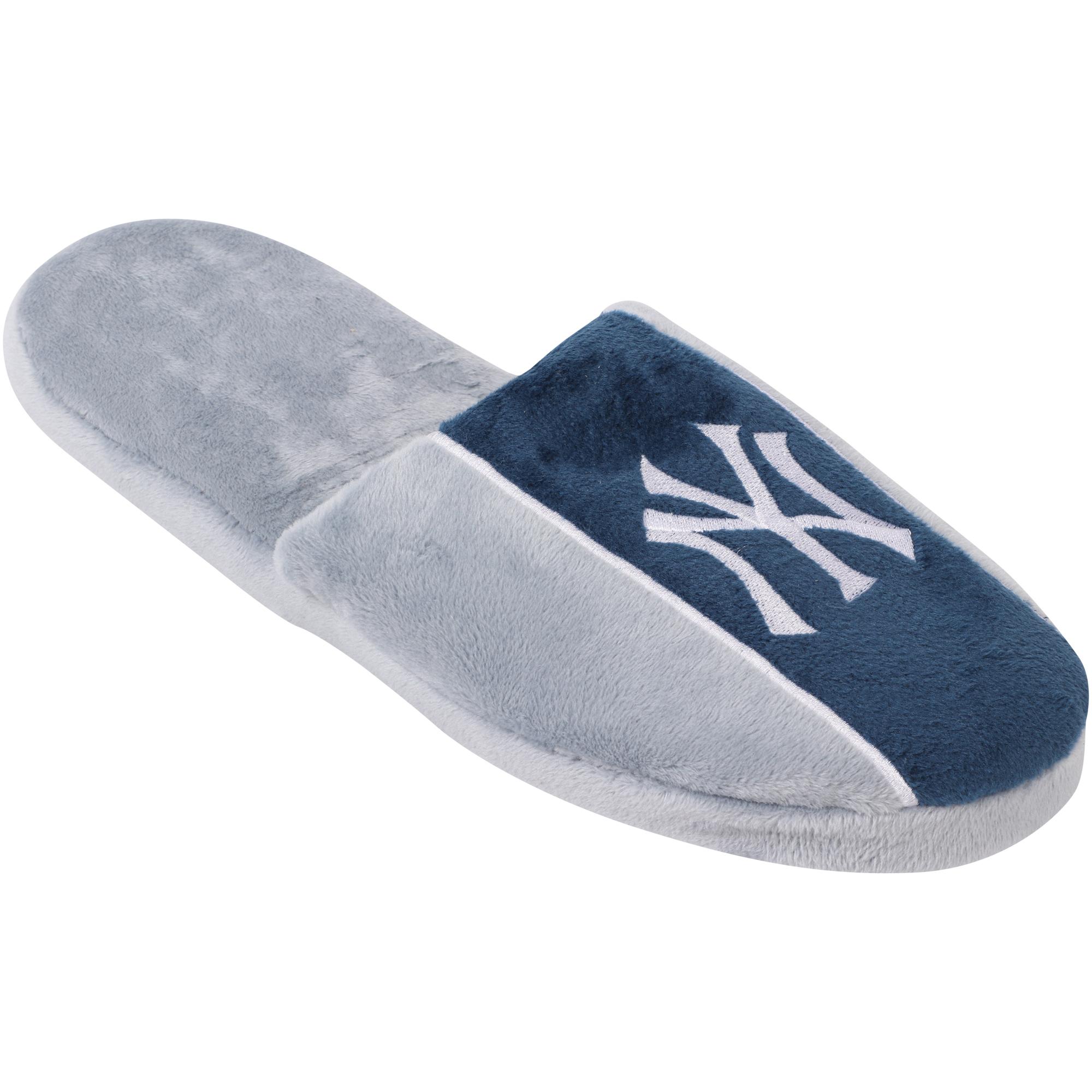 New York Yankees Big Logo Stripe Slipper