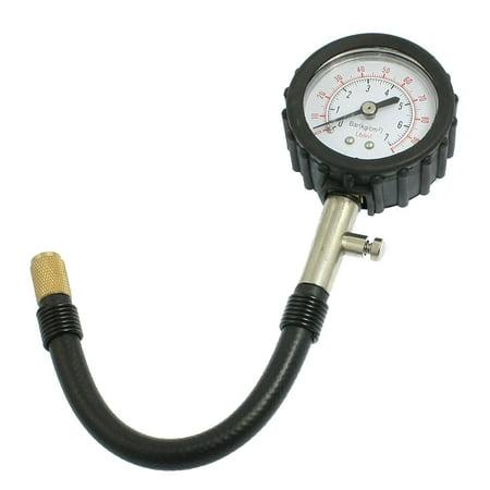 Portable 0-7 Bar kg/cm2 Tire Dial Inflator Gauge Gun for Racing Motorcycle Auto Car