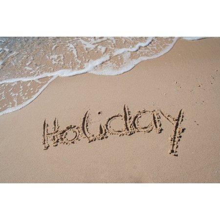Framed Art For Your Wall Sand Holiday Summer Beach Font Sea Greece 10x13 Frame
