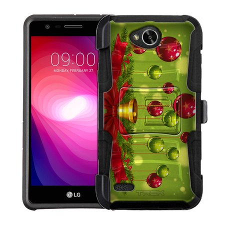 LG Fiesta Armor Hybrid Case - Red and Green Ornaments Hanging from Reef