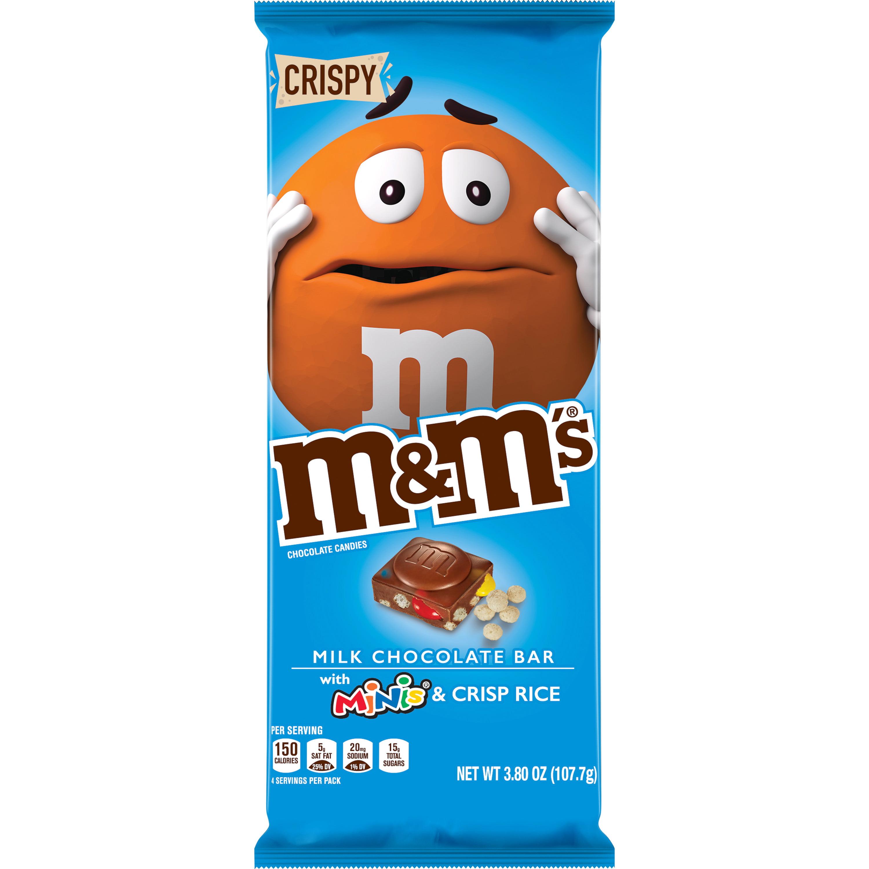 M&M'S Milk Chocolate Bar with MINIS & Crisp Rice, full ...