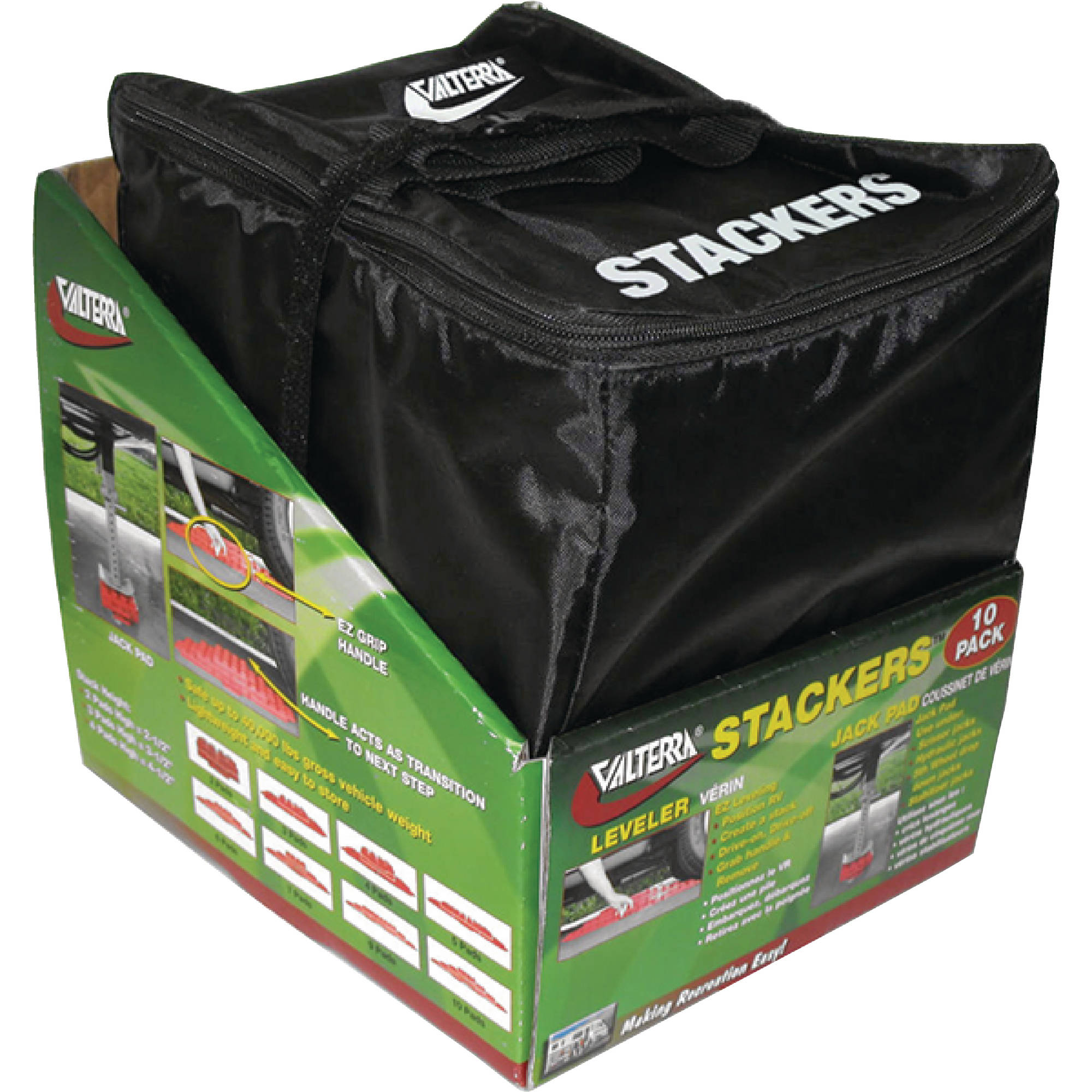 Valterra A10-0920 Stackers Leveler / Jack Pad - 10 Pack with Carry Bag