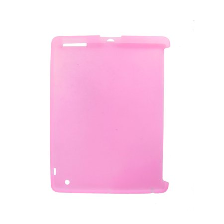 Smooth Silicone Skin Cover Pink Soft Guard for The New iPad