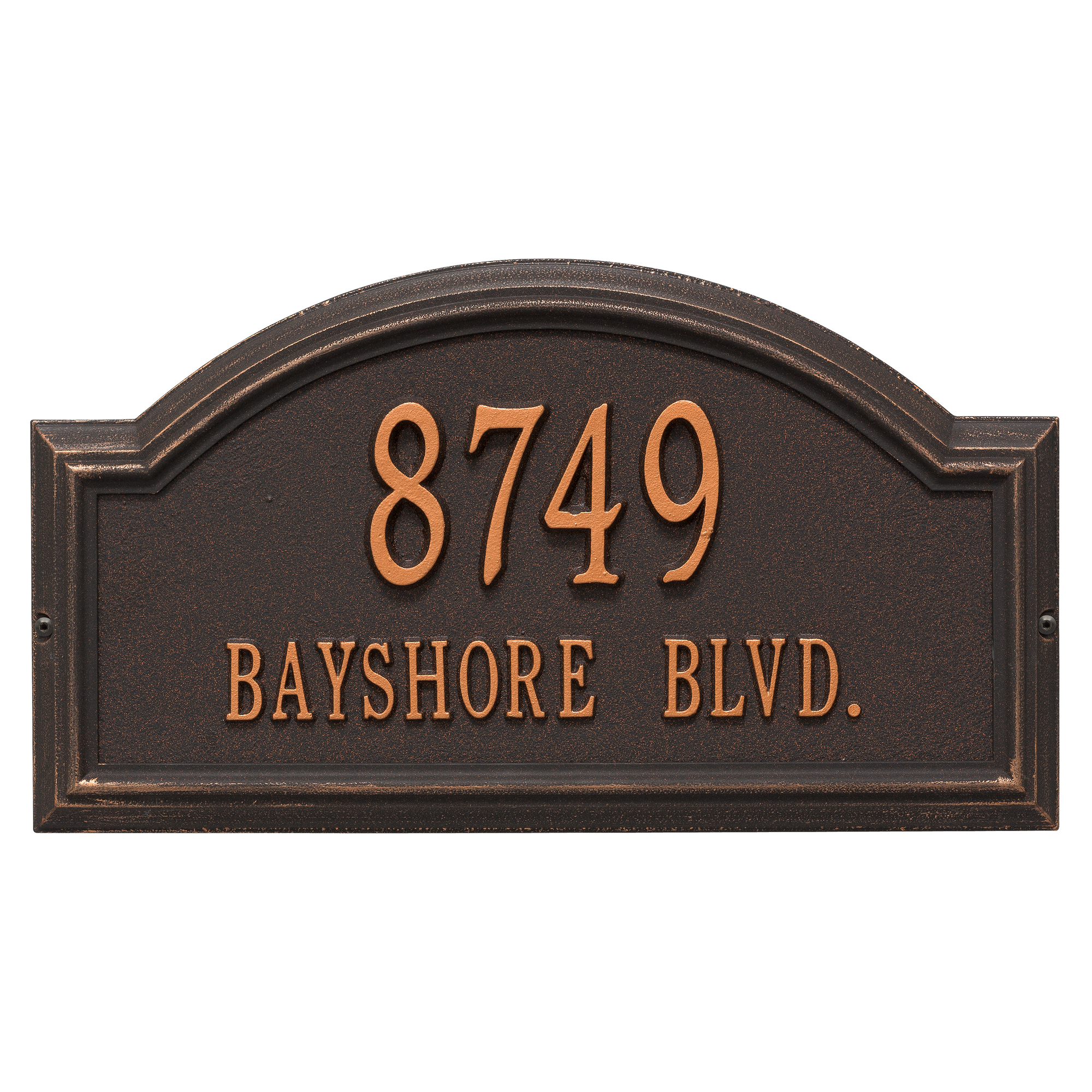 Personalized Whitehall Products Standard 2-Line Providence Arch Wall Address Plaque in... by Address Plaques