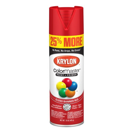 Krylon® ColorMaster Paint + Primer Gloss Banner Red, -