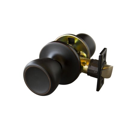 Iron Door Knob - Design House 728717 Terrace 6-Way Latch Passage Door Knob, Oil Rubbed Bronze