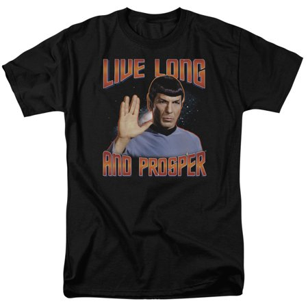Star Trek Live Long And Prosper Mr. Spock Sci Fi TV Show Black Adult T-Shirt