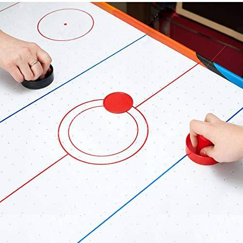Goal Handles Paddles Replacement Accessories for Game Tables Black Coopay Air Hockey Pushers and Red Air Hockey Pucks 4 Striker, 8 Puck Pack