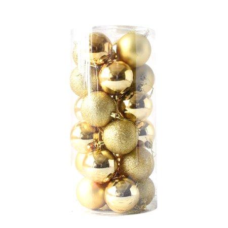 24pcs Shiny and Polshed Glossy Christmas Tree Ball Ornaments Decorations 1.5'' ()