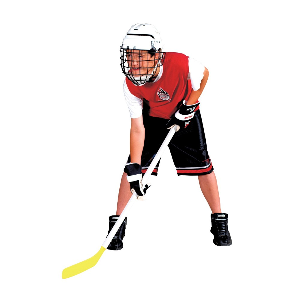 Mylec 007897 Junior Hockey Helmet With Wire Face Guard, White