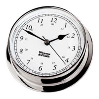 "6"" Silver and White Antique Finish Round Shaped Desk Clock"